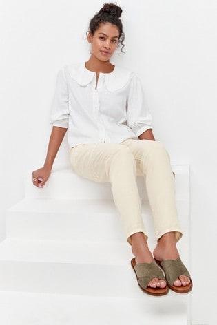 Khaki Forever Comfort® Cross Vamp Mule Sandals