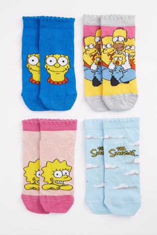 The Simpsons Trainer Socks 4 Pack