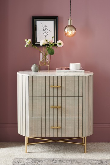 Piano Light Luxe 3 Drawer Chest