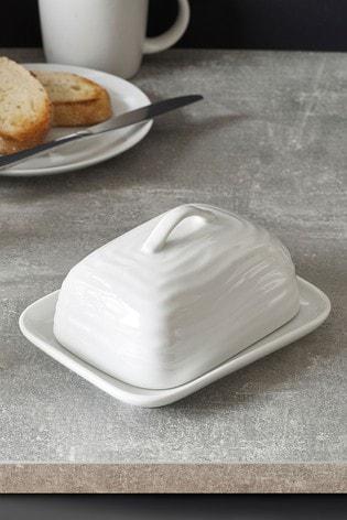 Malvern Embossed Butter Dish