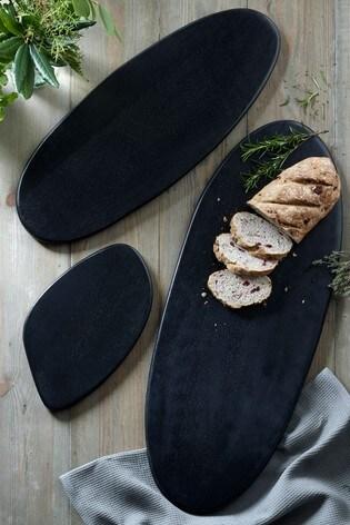 Black Wood Serve Board