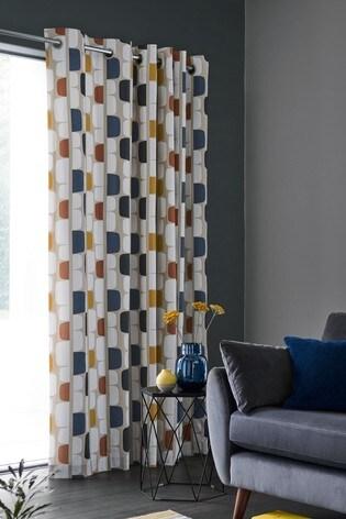 Scion Living At Next Kivi Eyelet Curtains