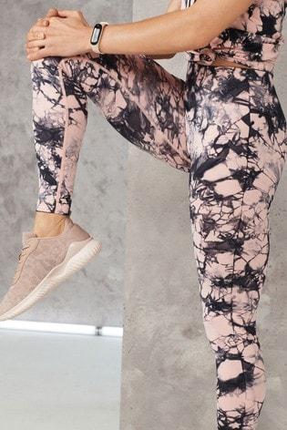 Pink Tie Dye Seamless Contour Leggings
