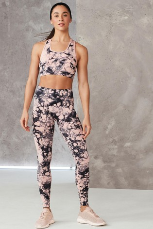 Pink Tie Dye Seamless Contour Crop Top