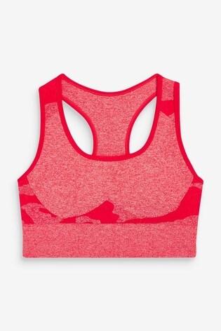 Red Camo Sports Sculpt & Contour Bra Top