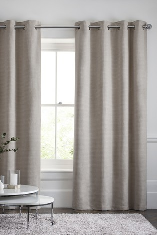 Chenille Square Eyelet Curtains