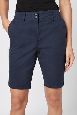 Navy Chino Knee Shorts