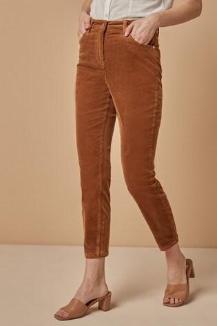 Tan Cord Skinny Trousers