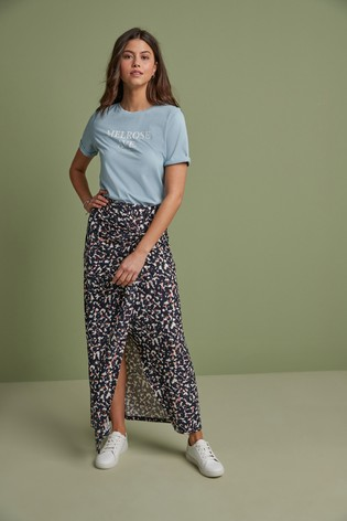 Camo Print Wrap Skirt