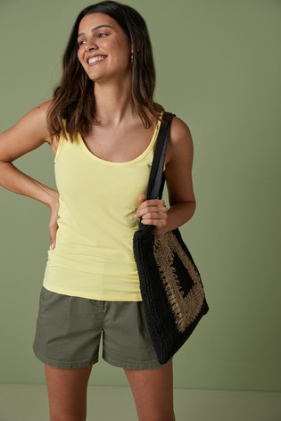 Yellow Thick Strap Vest
