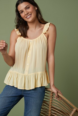 Yellow Frill Camisole