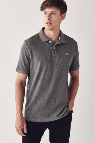 Crew Clothing Company Grey Classic Pique Polo