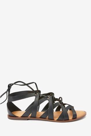 Black Forever Comfort® Gladiator Sandals