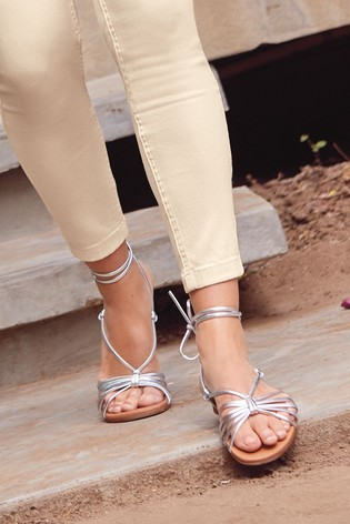 Silver Forever Comfort® Ghillie Sandals