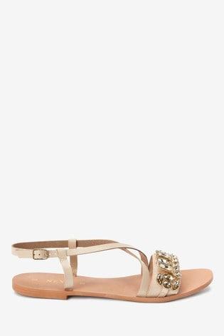 Bone Jewel Sandals