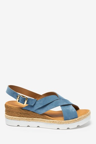 Denim Sports Cross-Over Wedges