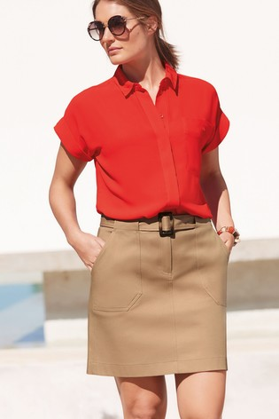 Red Utility Shirt