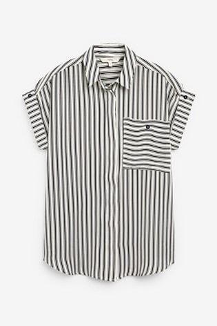 Black Stripe Utility Shirt