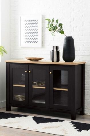 Malvern Black Glazed Cabinet