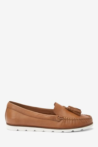 Tan Leather Moccasins