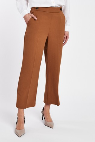 Ginger Cropped Wide Leg Trousers