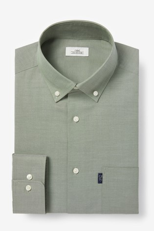 Sage Slim Fit Single Cuff Easy Iron Button Down Oxford Shirt