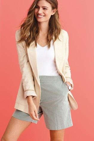 Navy/White Stripe Tailored Shorts