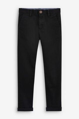 Black Skinny Fit Stretch Chino Trousers (3-16yrs)