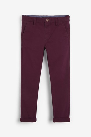 Plum Skinny Fit Stretch Chino Trousers (3-16yrs)