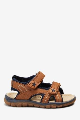 Tan Two Strap Trekker Sandals