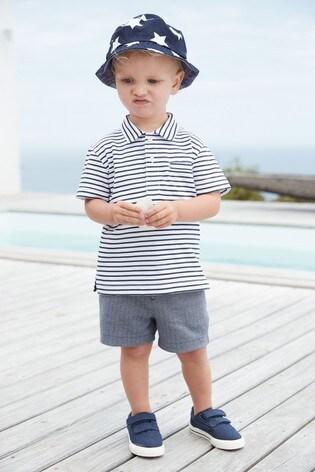 Multi Stripe Poloshirt And Short Set (3mths-7yrs)