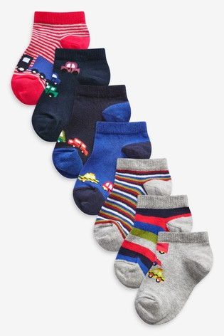 Transport 7 Pack Cotton Rich Trainer Socks (Younger)