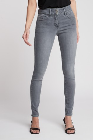 Light Grey Enhancer Skinny Jeans
