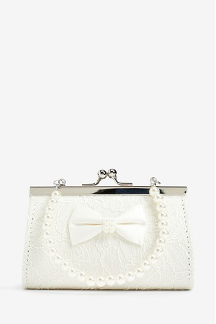 Monsoon Lara Lace Bow Mini Bag