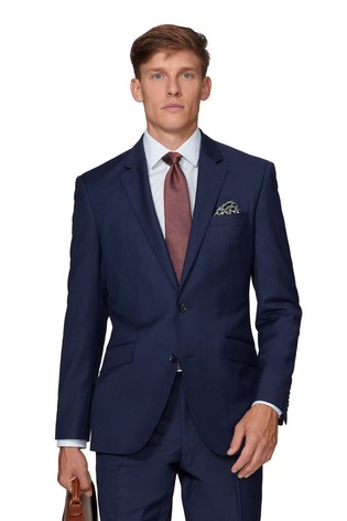 T.M. Lewin Windsor Slim Fit Navy Twill Jacket