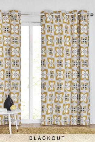 Eyelet Retro Petals Curtains