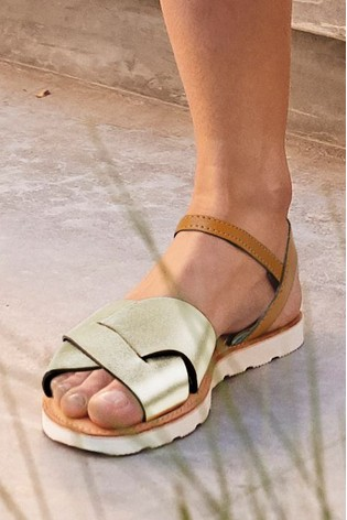 White Regular/Wide Fit Forever Comfort® Two Part Sandals