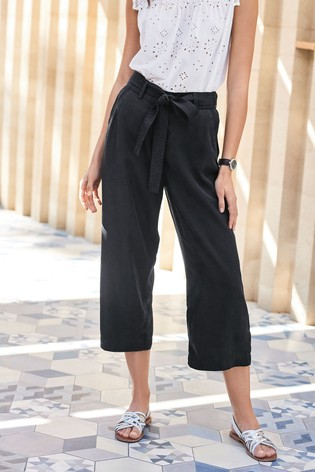 Black TENCEL™ Culottes