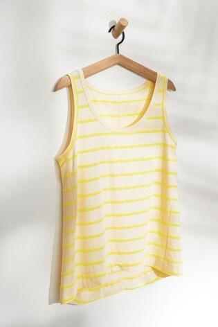 Yellow/White Stripe Weekend Vest