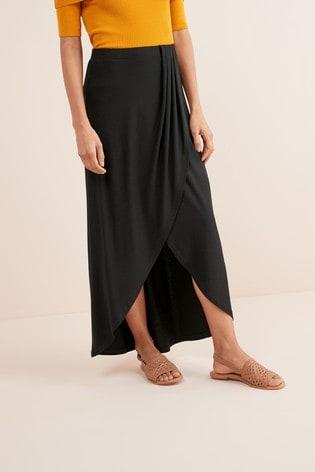 b9b6ea1b6c Buy Black Wrap Maxi Skirt from Next Ireland