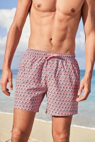 Pink/Mint Flamingo Print Swim Shorts