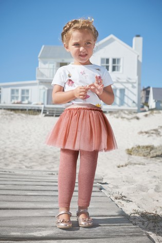 Mid Pink Tutu Leggings (3mths-7yrs)