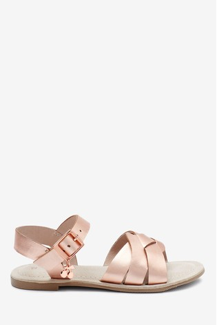 Rose Gold Woven Leather Sandals (Older)