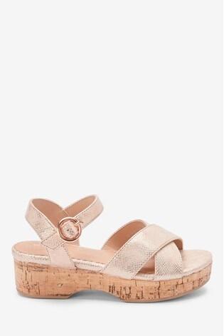 Rose Gold Cork Wedge Sandals (Older)