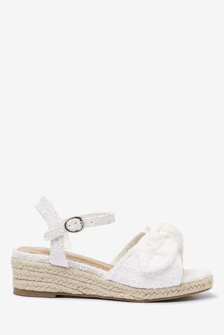 White Bow Wedge Sandals (Older)