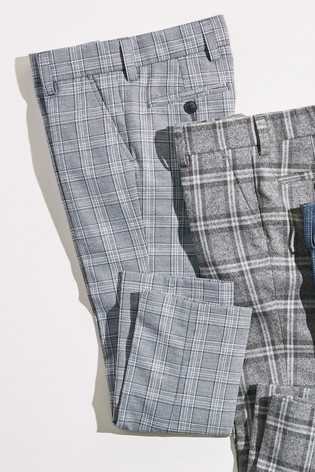 Cropped Skinny Fit Tartan Formal Trousers (3-16yrs)