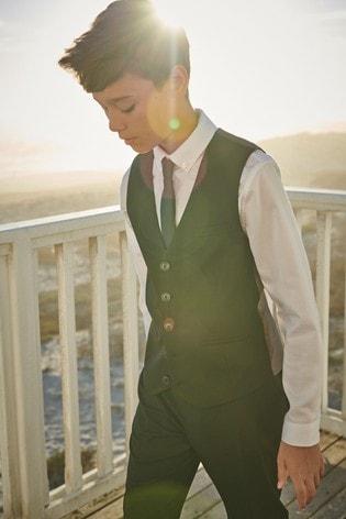 Black Waistcoat, Shirt And Tie Set (12mths-16yrs)
