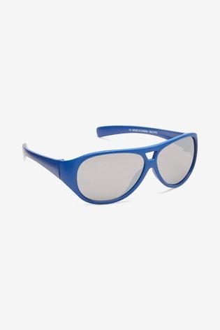 Blue Aviator Style Sunglasses