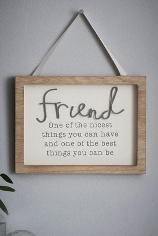 Friendship Hanging Sign