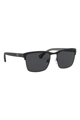 Emporio Armani Matte Black Sunglasses